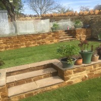 Garden Landscaping and Walls finished product