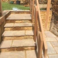 Gardens steps walling and landscaping