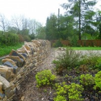 Completed frontage drystone wall, Hampshire