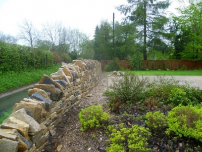Drystone Wall in Hampshire