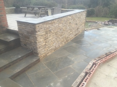 Additional walling and hard lanscaping, Haslemere