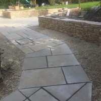 Finished Walling and Landscaping, WInchester