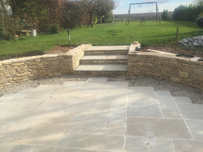 Walling and hard landscaping, Winchester