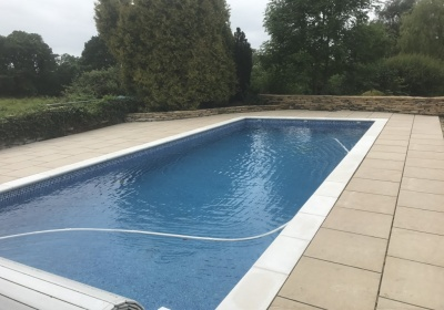 Dry Stone wall and Ornate Swimming Pool Patio in Claverdon, Warwickshire