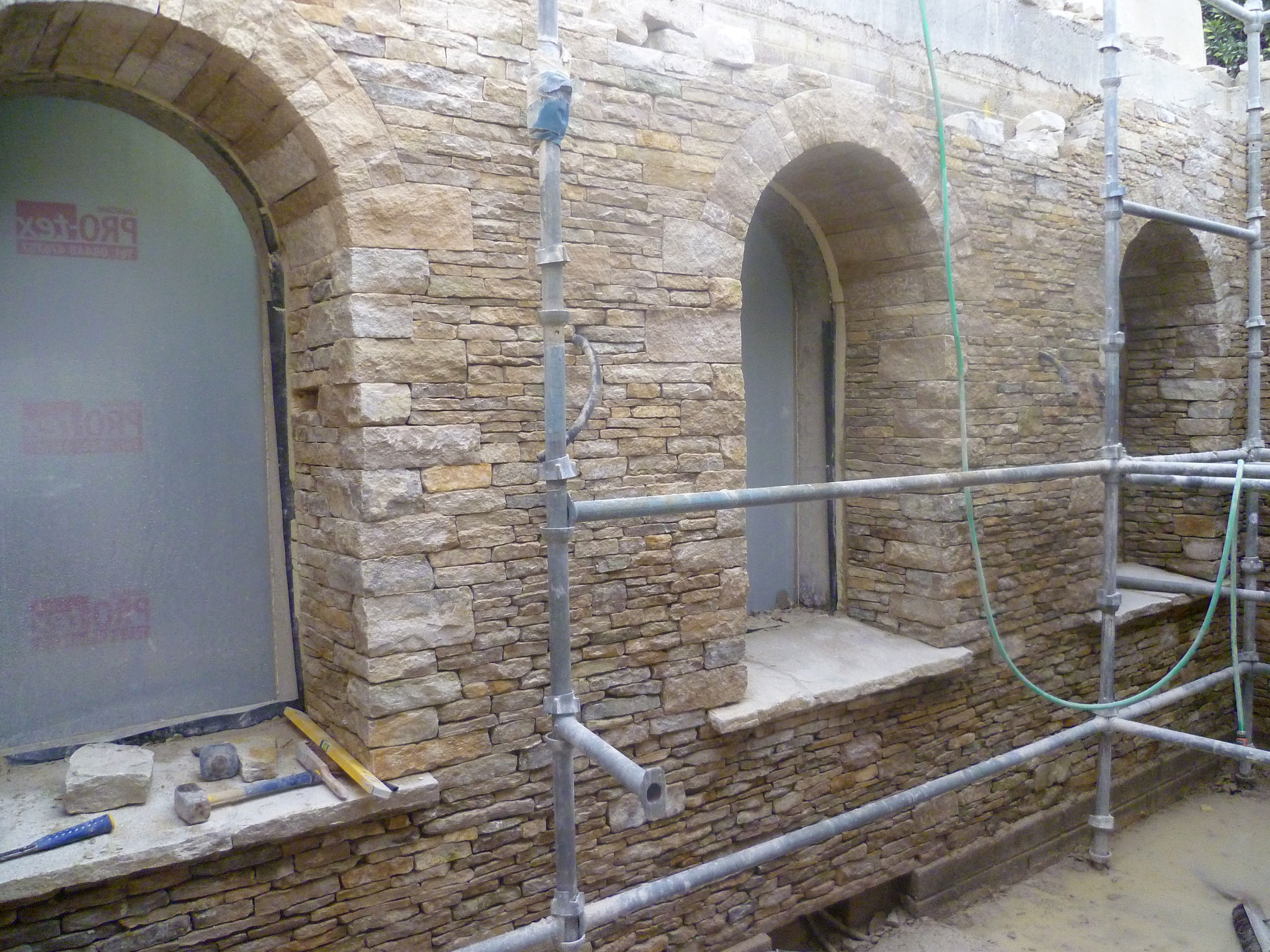 Stone Cladding Pediments Arches In Progress