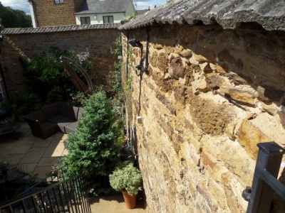 Ironstone wall replacement , Brixworth